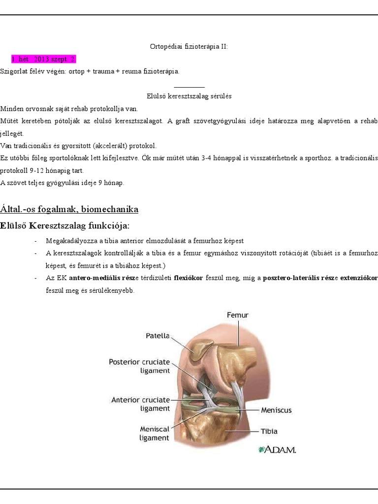 poszt-traumás artrózis 2 fokkal