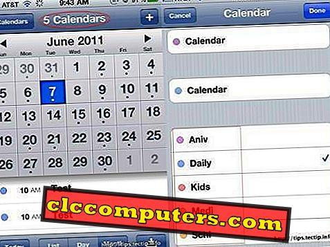 naptár közös kezelése