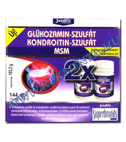 kondroitin és glükózamin tartalmú tabletták