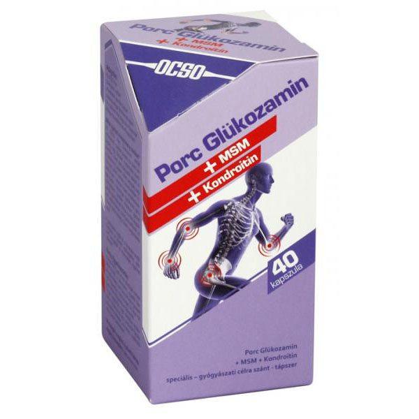 KILISTÁZVA-Porc Glükozamin + Kondroitin+MSM 300/100/150mg 40db kapsz.