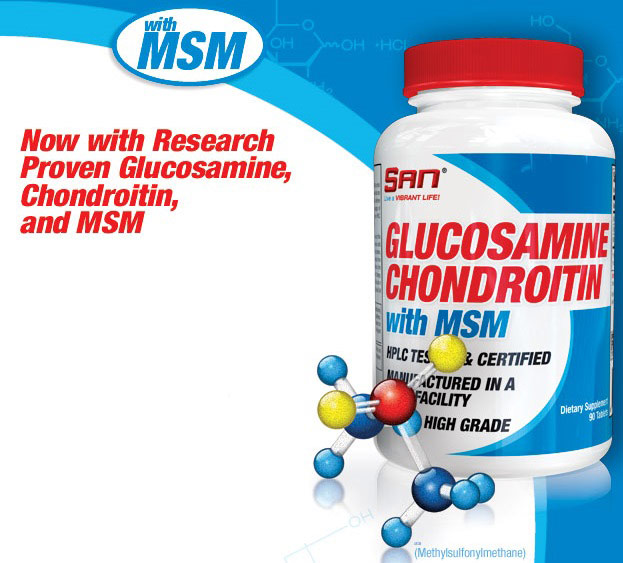 Glucosamine & Chondroitin with MSM (90 kap.) - Now Foods